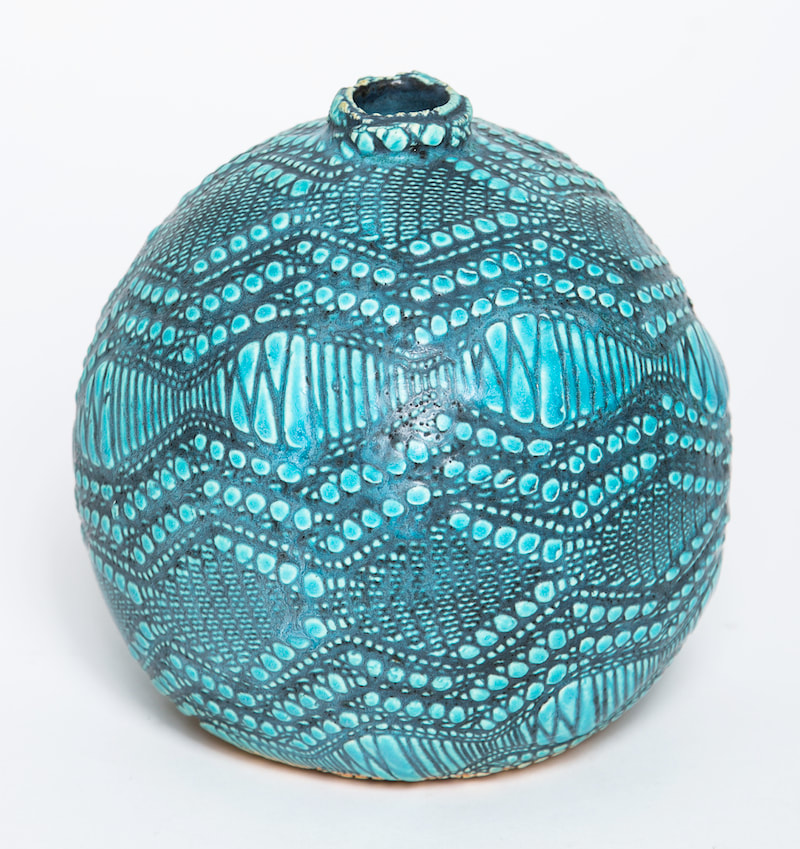 Artist made ceramic vase by Rick Van Dyke